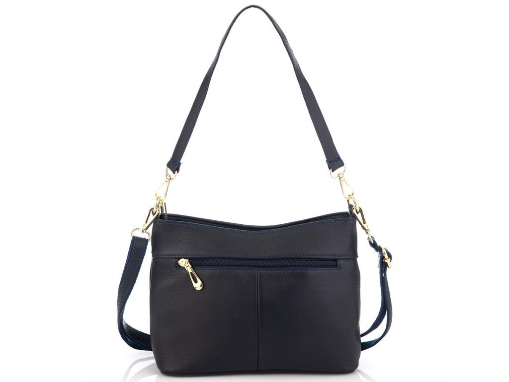 Кожаная женская сумка синяя Riche NM20-W832BL - Royalbag
