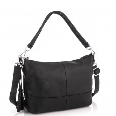 Шкіряна жіноча сумка чорна Riche NM20-W891A - Royalbag