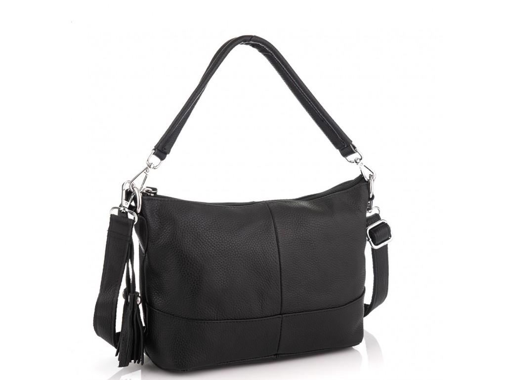 Кожаная женская сумка черная Riche NM20-W891A - Royalbag Фото 1