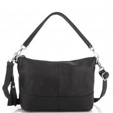 Кожаная женская сумка черная Riche NM20-W891A - Royalbag