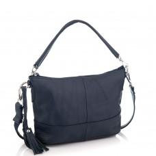 Кожаная женская сумка синяя Riche NM20-W891BL - Royalbag