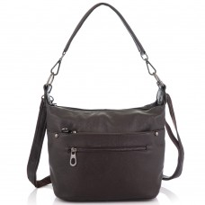 Кожаная женская сумка коричневая Riche NM20-W9009DB - Royalbag