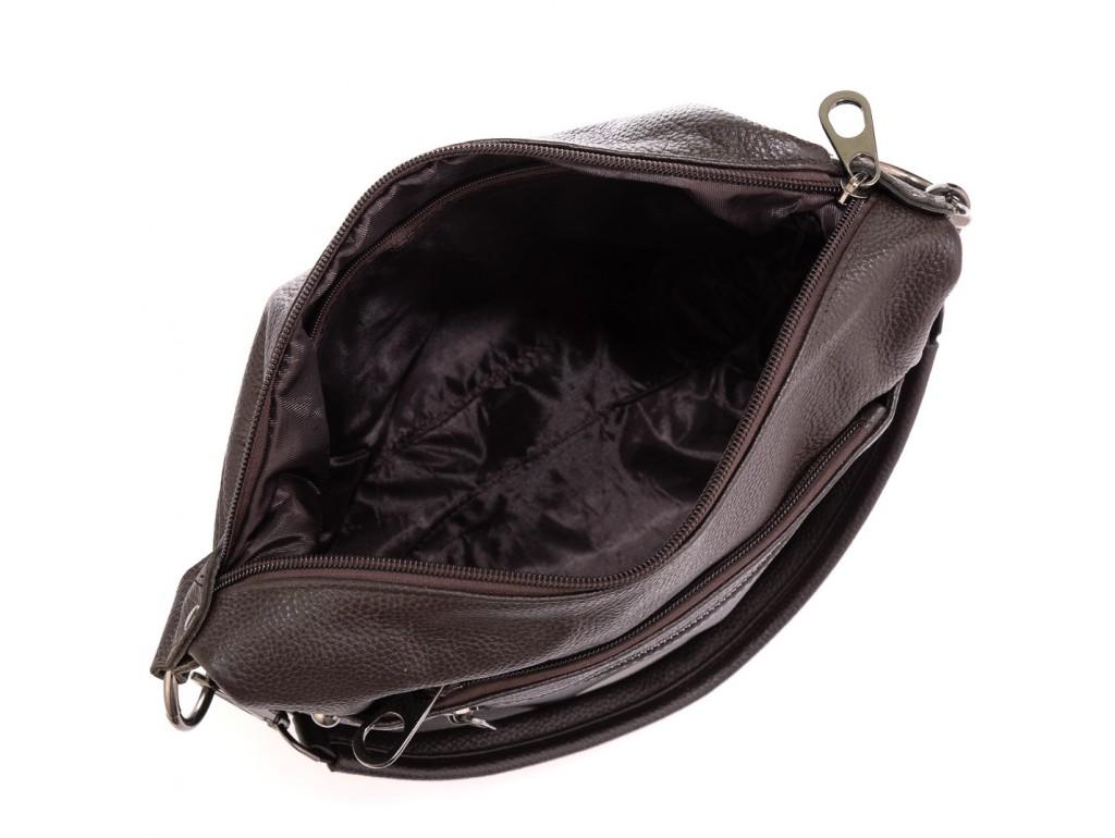 Шкіряна жіноча сумка коричнева Riche NM20-W9009DB - Royalbag