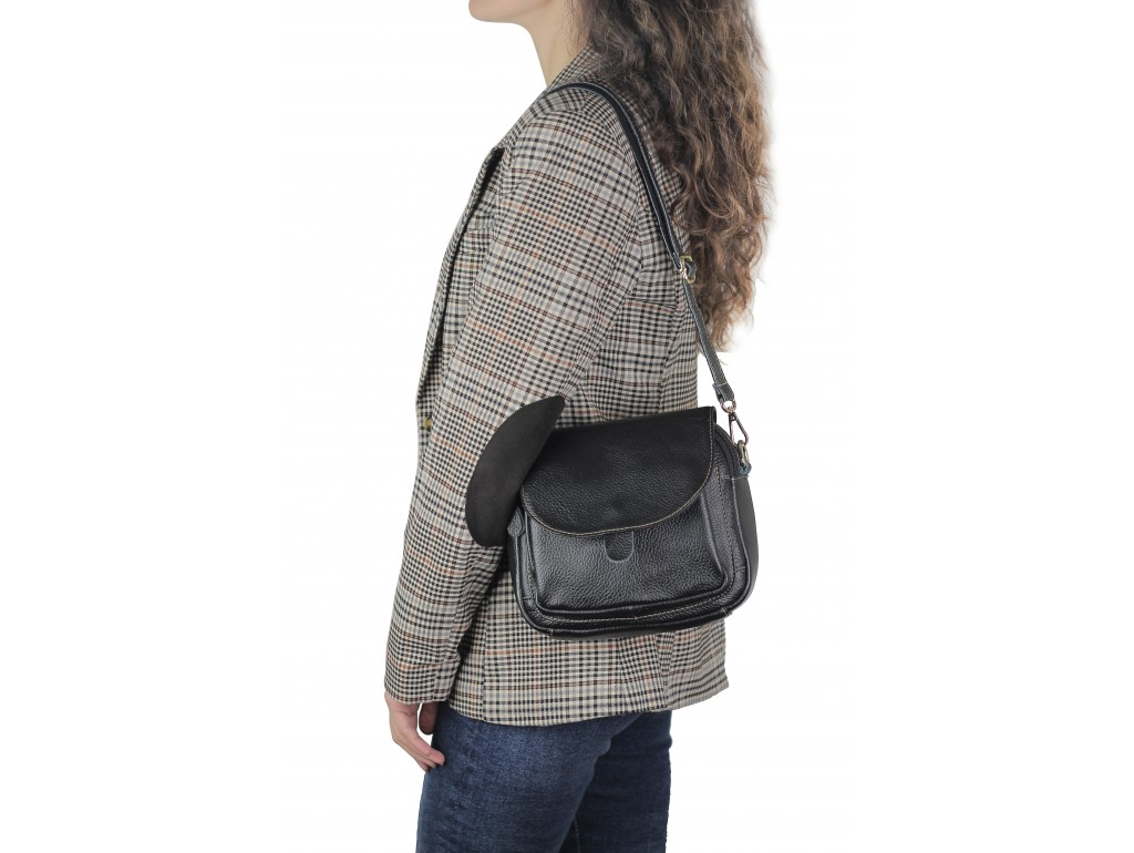 Женская кожаная сумка через плечо Riche Nm20-W0320A - Royalbag