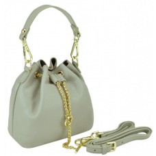 Женская кожаная сумочка-кисет серая Riche W14-2126G - Royalbag Фото 2