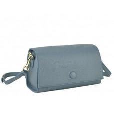 Женская сумка-багет кожаная голубая Riche W14-7727BL - Royalbag