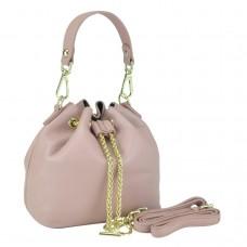 Женская кожаная сумочка-кисет розовая Riche W14-2126P - Royalbag