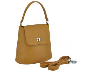 Жіноча шкіряна сумочка бакет коричнева Riche W14-7718LB - Royalbag
