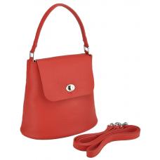 Женская кожаная сумочка бакет красная Riche W14-7718R - Royalbag
