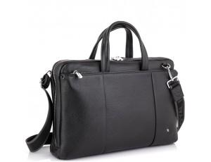 Вместительная деловая классическая сумка черная Royal Bag RB50111 - Royalbag