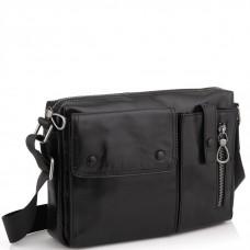 Кожаная сумка через плечо горизонтальная Tiding Bag 1628A - Royalbag Фото 2