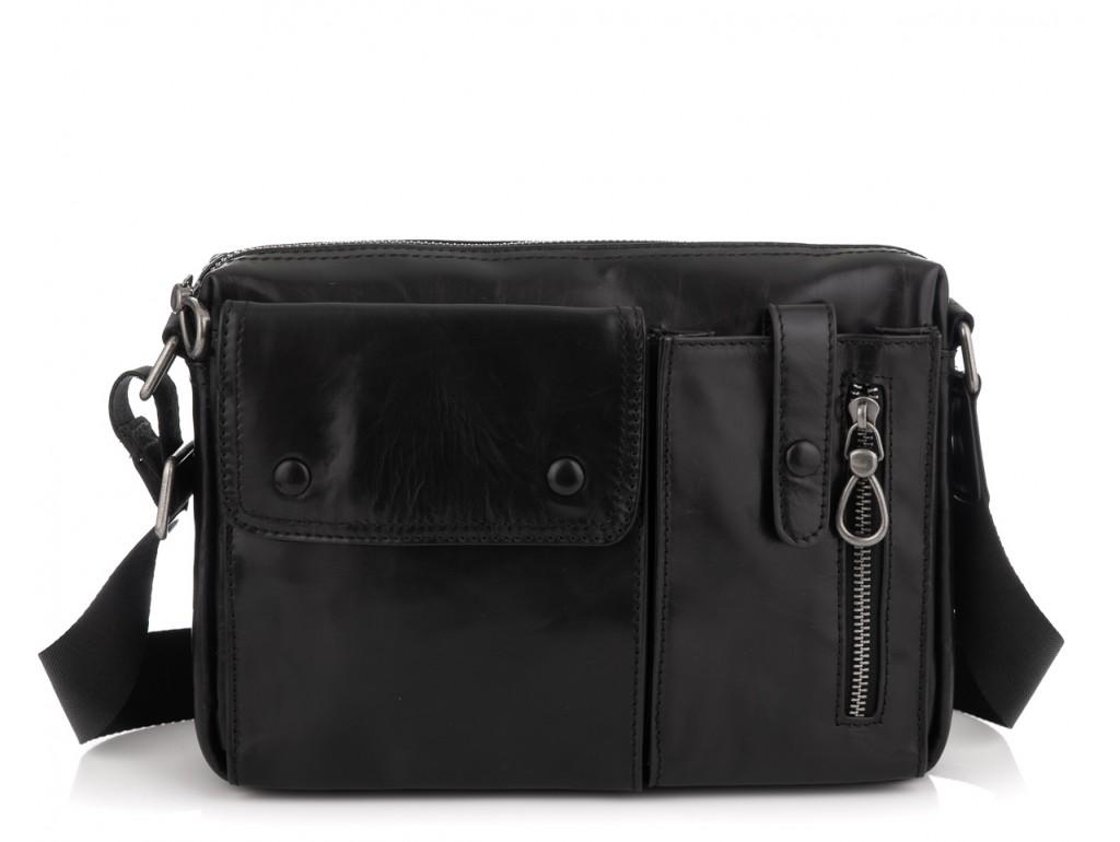 Кожаная сумка через плечо горизонтальная Tiding Bag 1628A - Royalbag