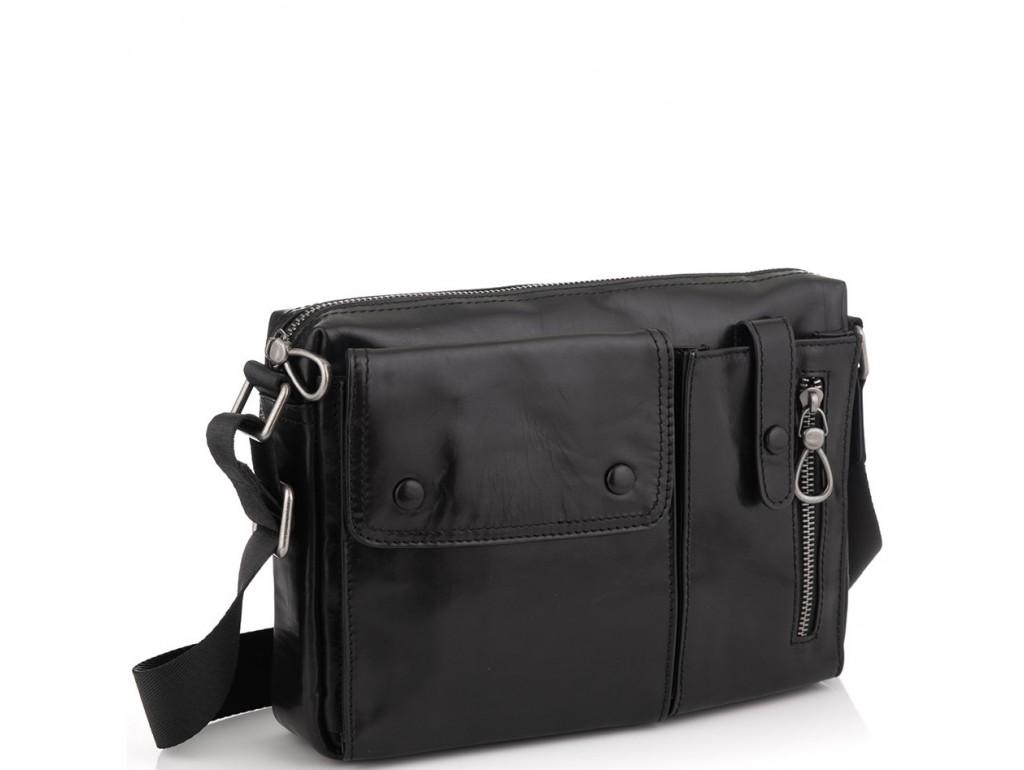 Кожаная сумка через плечо горизонтальная Tiding Bag 1628A - Royalbag Фото 1