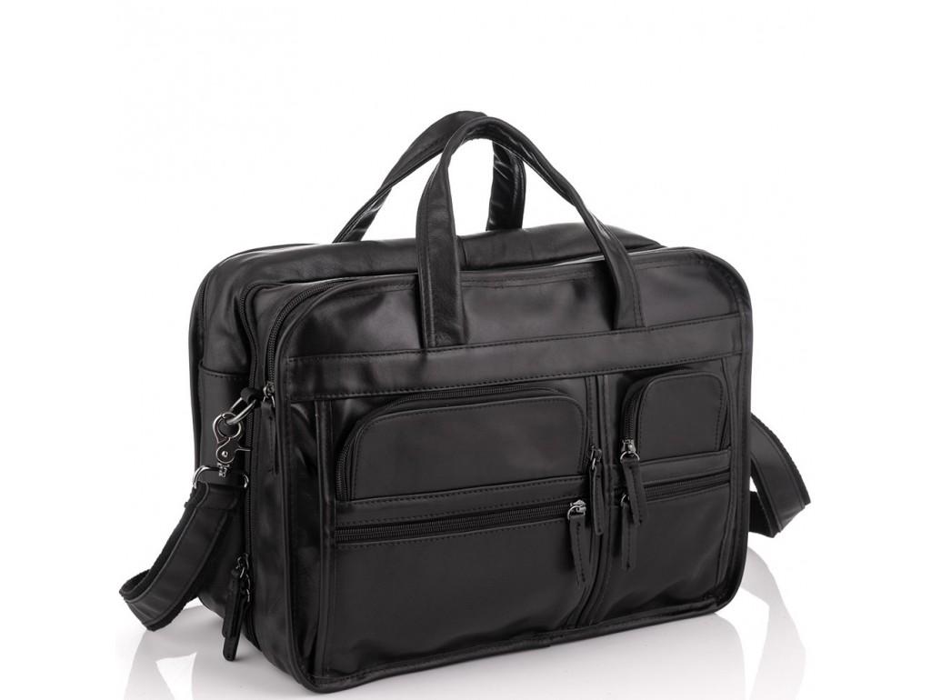 Большая деловая мужская кожаная сумка Jasper&Maine 7093A - Royalbag Фото 1