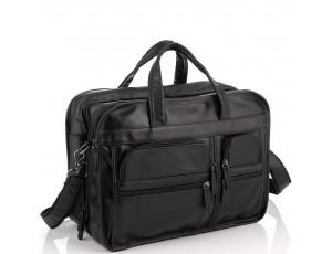 Большая деловая мужская кожаная сумка Jasper&Maine 7093A - Royalbag
