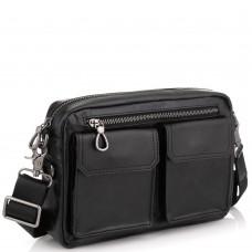 Горизонтальная сумка через плечо кожаная Tiding Bag 720A - Royalbag Фото 2