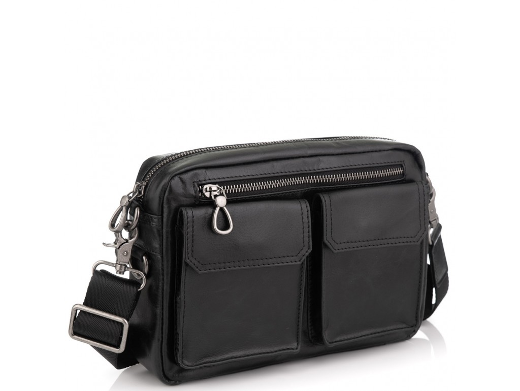 Горизонтальная сумка через плечо кожаная Tiding Bag 720A - Royalbag Фото 1