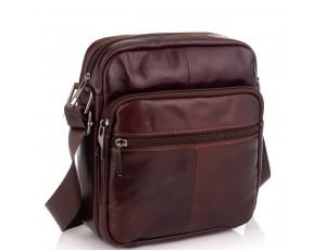 Кожаная мужская сумка через плечо коричневая Tiding Bag NM20-2610C - Royalbag