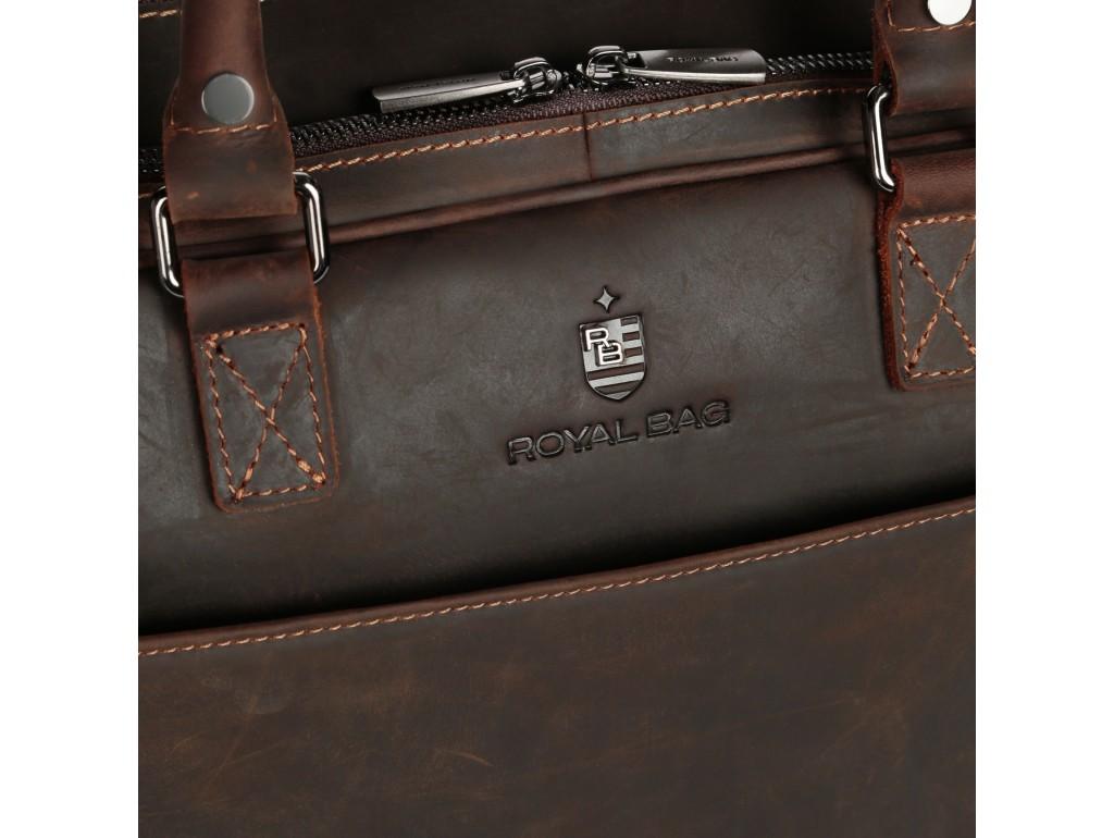 Вместительная кожаная сумка А4 Royal Bag RB026R - Royalbag