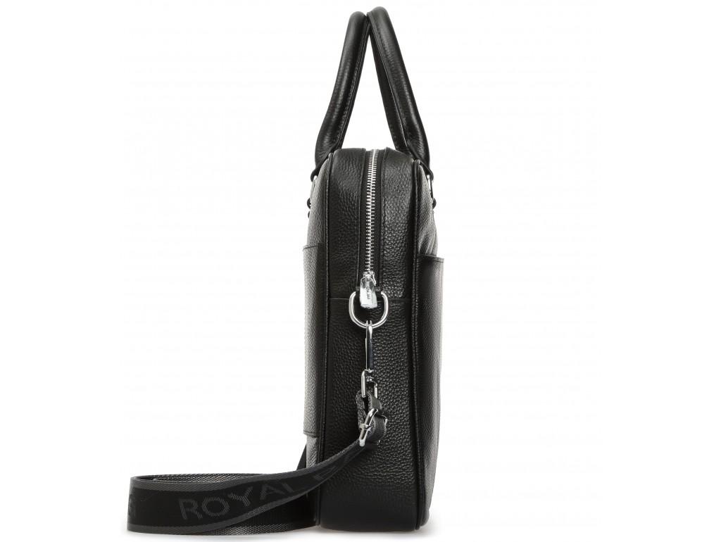 Классическая мужская сумка для документов черная Royal Bag RB-015A - Royalbag
