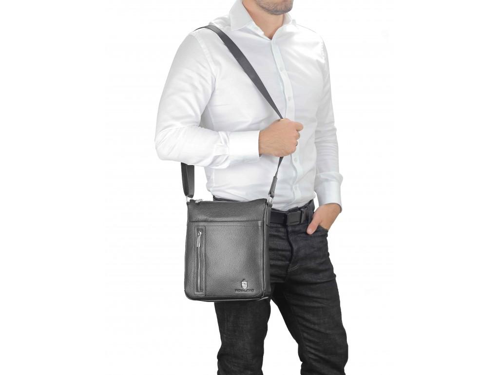 Мессенджер мужской кожаный на плечо Royal Bag RB-17629A - Royalbag