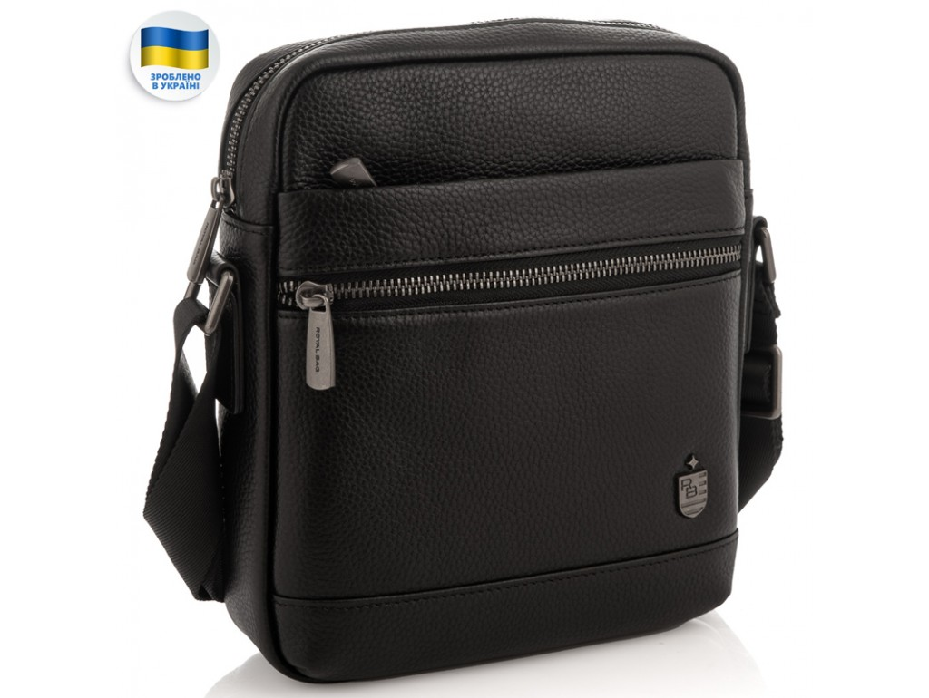 Мужская кожаная сумка через плечо Royal Bag RB29-88078А - Royalbag Фото 1