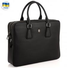 Сумка для ноутбука кожаная мужская черная Royal Bag RB29-9020-6A - Royalbag