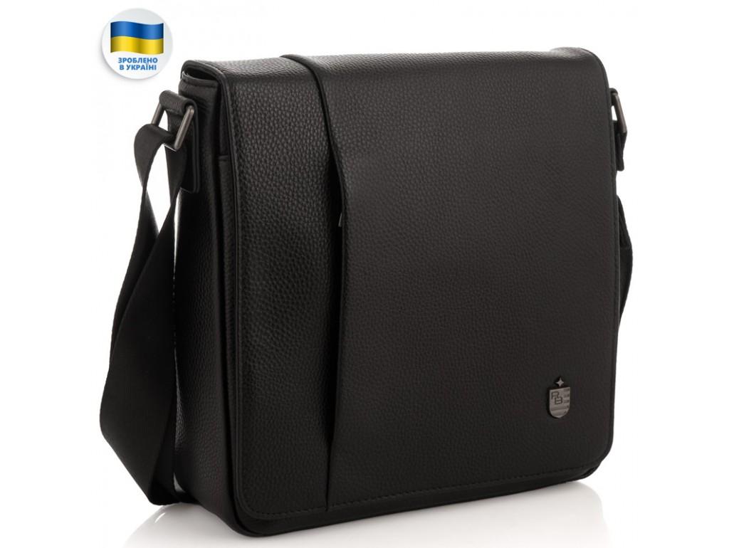 Мужская кожаная сумка через плечо мессенджер Royal Bag RB2970011 - Royalbag Фото 1