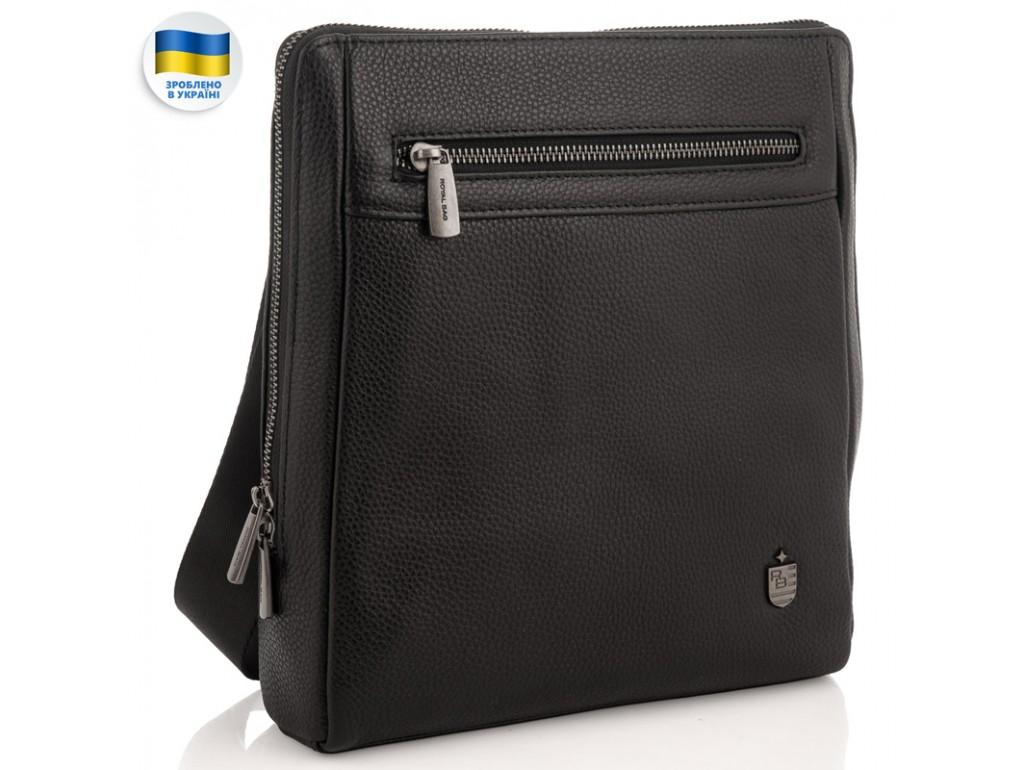 Мужской черный мессенджер Royal Bag RB2970081 - Royalbag Фото 1