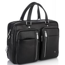 Вместительная функциональная мужская кожаная сумка Royal Bag RB50021 - Royalbag