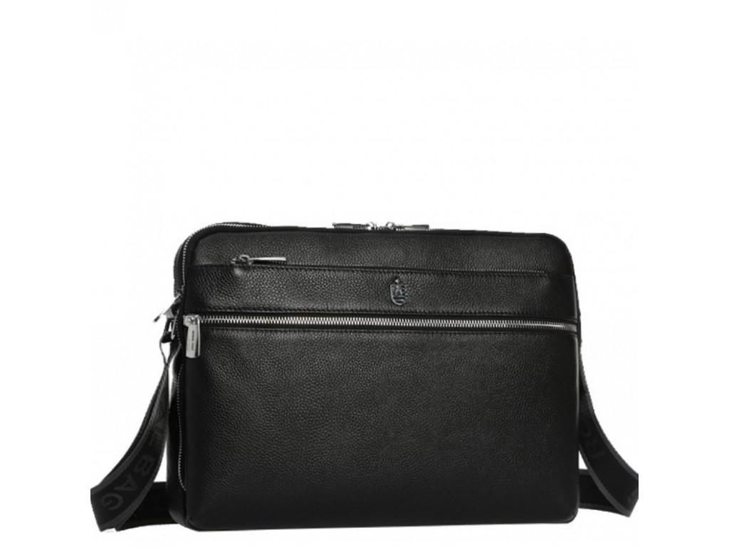 Горизонтальная почтальонка через плечо кожаная Royal Bag RB70051 - Royalbag Фото 1