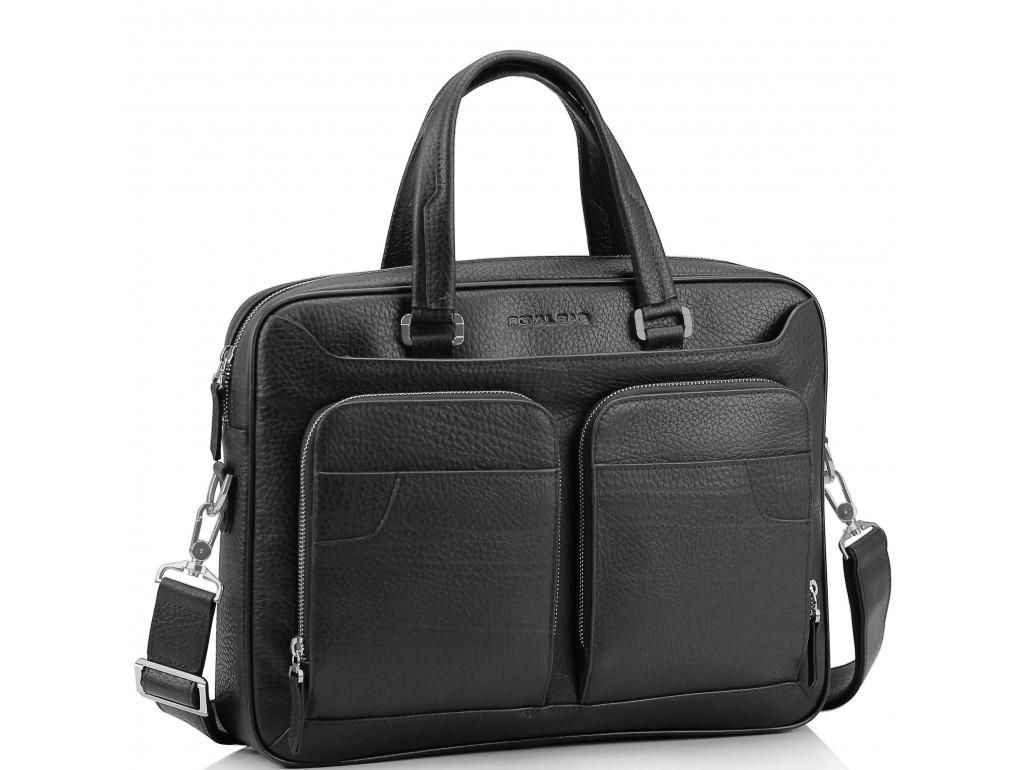 Деловая мужская кожаная сумка Royal Bag RB8-1001A - Royalbag Фото 1