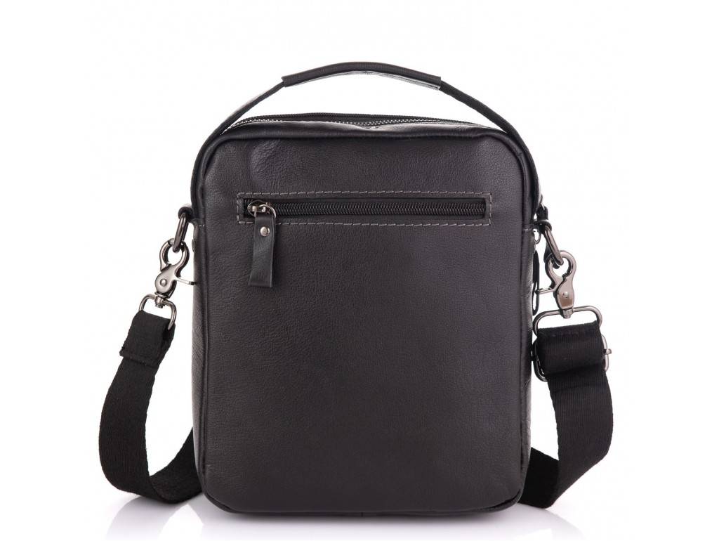 Кожаная сумка через плечо черная Allan Marco RR-4099A - Royalbag