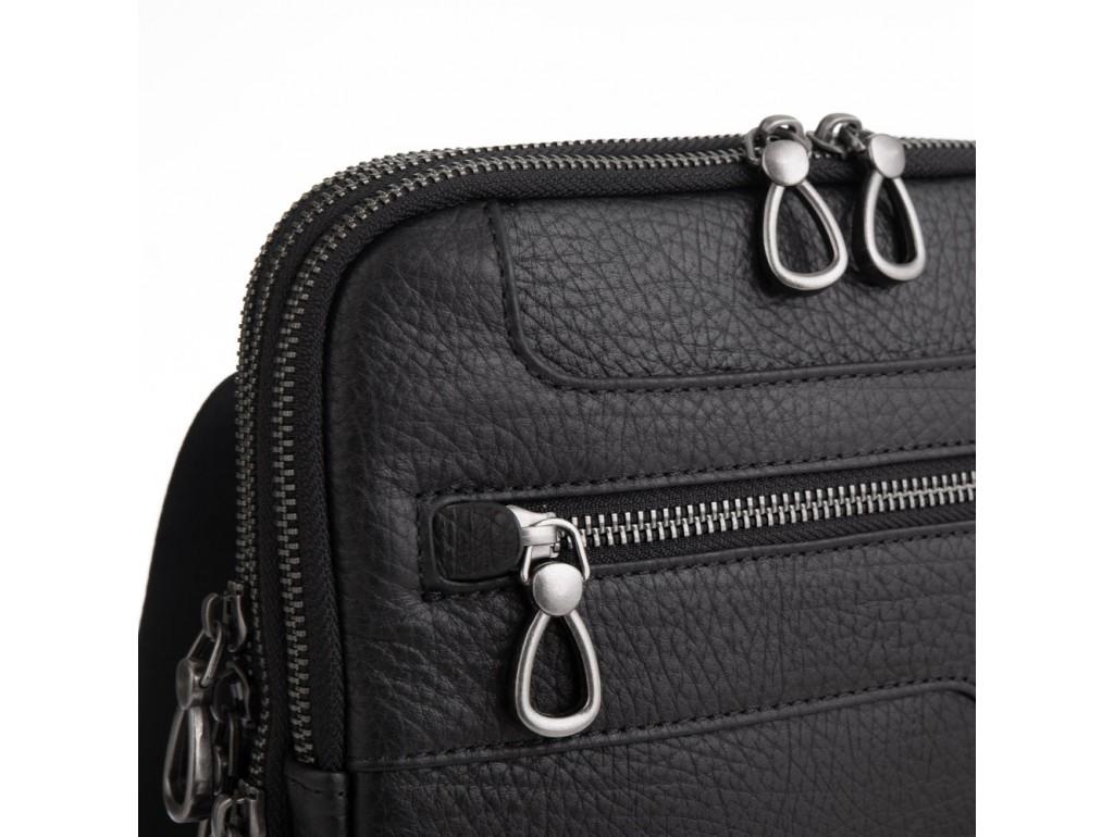 Мужская сумка на три отделения натуральная кожа Tavinchi S-004A - Royalbag