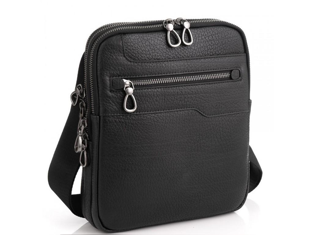 Мужская сумка на три отделения натуральная кожа Tavinchi S-004A - Royalbag Фото 1