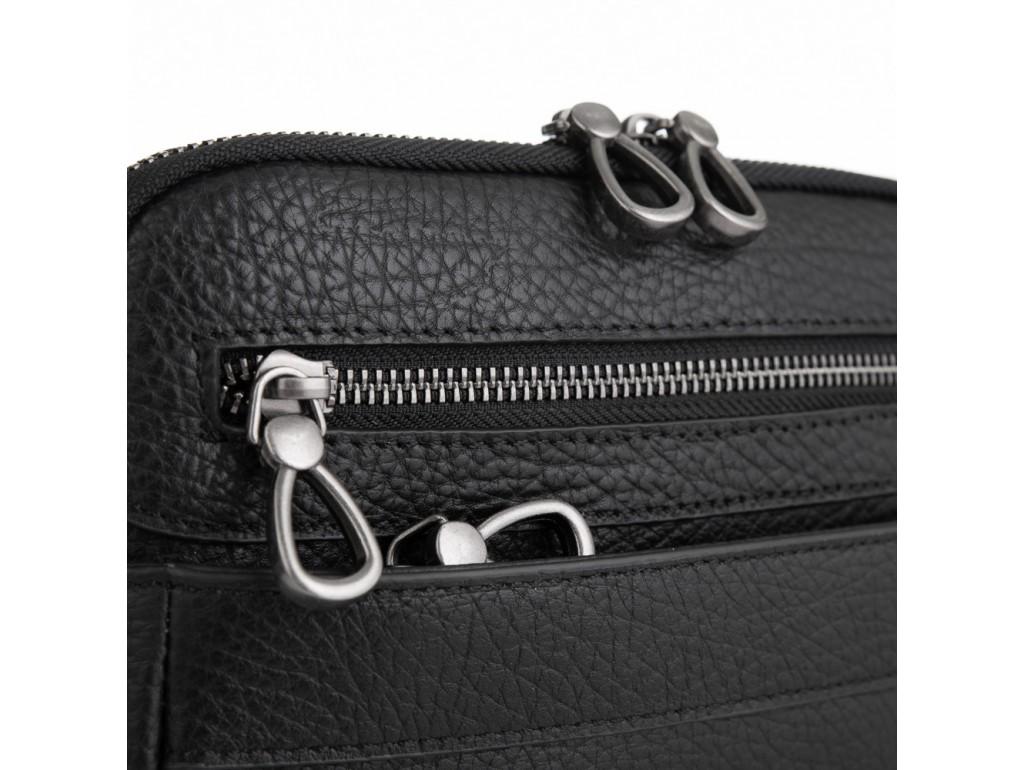 Черная мужская кожаная сумка-мессенджер Tavinchi S-008A - Royalbag