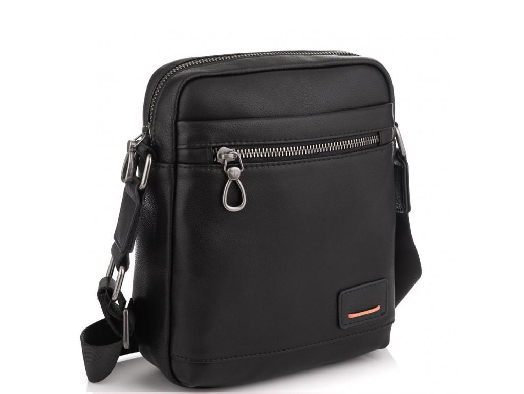 Мужская сумка через плечо в черном цвете Tiding Bag SM8-235A - Royalbag Фото 1