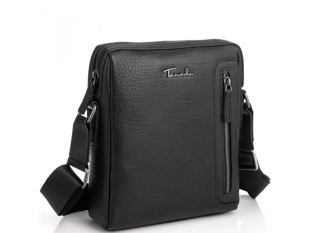 Шкіряна сумка через плече в чорному кольорі Tavinchi TV-S007A - Royalbag Фото 1