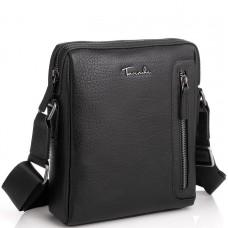 Шкіряна сумка через плече в чорному кольорі Tavinchi TV-S007A - Royalbag Фото 2