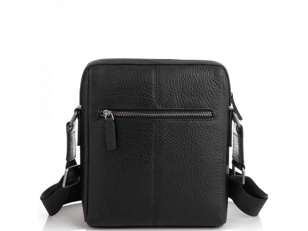 Шкіряна сумка через плече в чорному кольорі Tavinchi TV-S007A - Royalbag