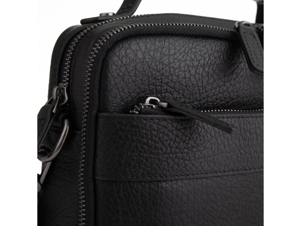 Кожаная сумка через плечо в черном цвете Tavinchi TV-S010A - Royalbag