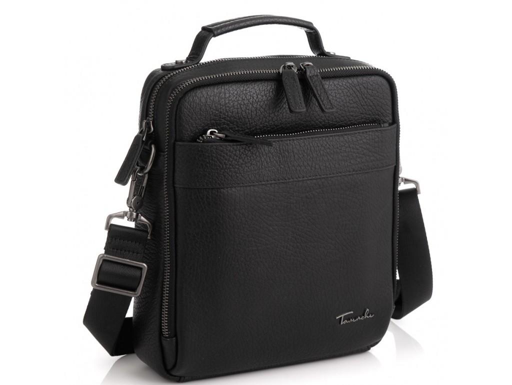 Кожаная сумка через плечо в черном цвете Tavinchi TV-S010A - Royalbag Фото 1