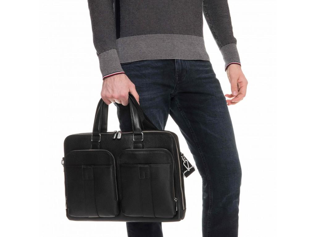 Модная мужская кожаная сумка для документов Royal Bag RB-018A - Royalbag