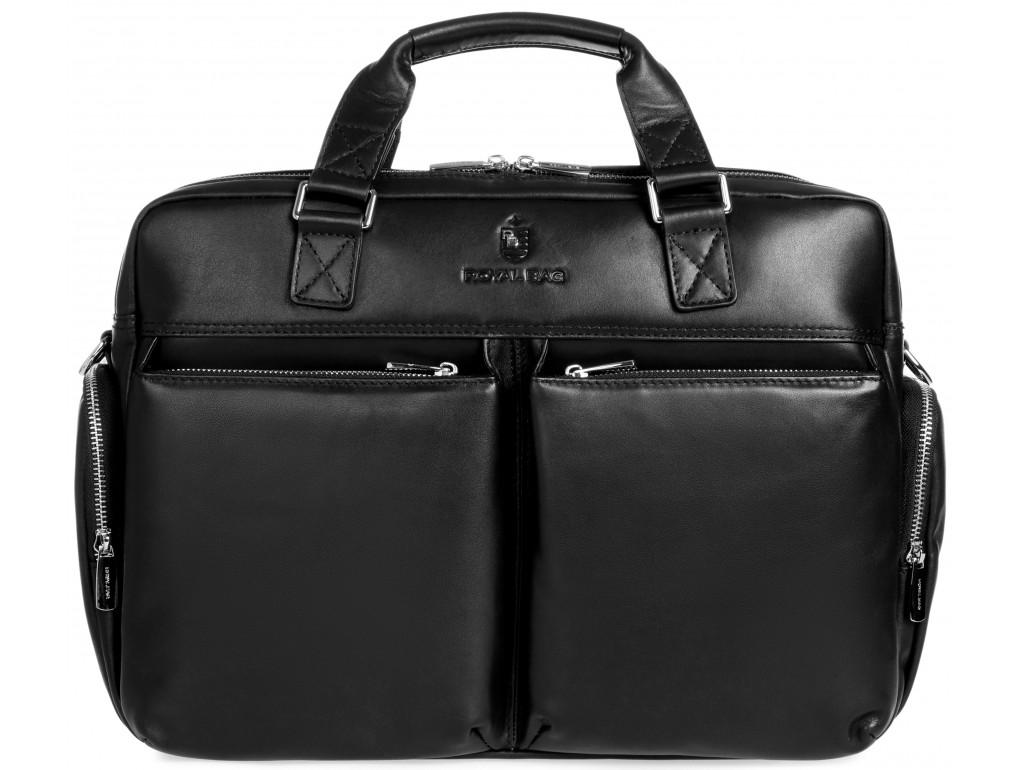 Большая вместительная кожаная сумка для командировок Royal Bag RB002A - Royalbag