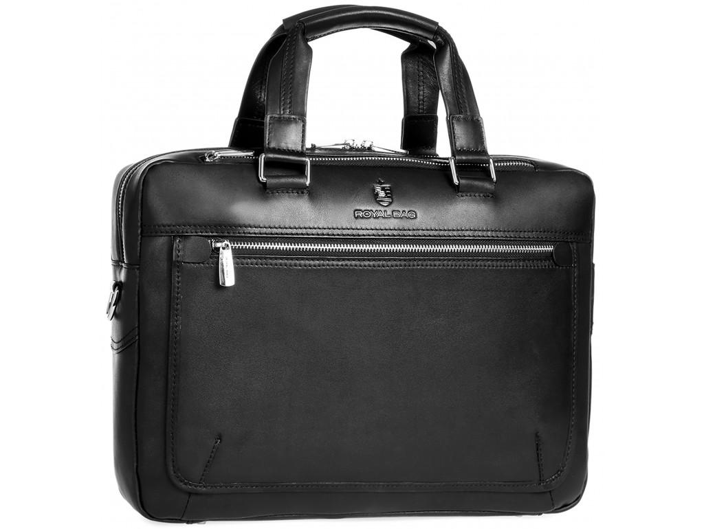 Мужская кожаная сумка для ноутбука с наплечным ремнем Royal Bag RB005A - Royalbag