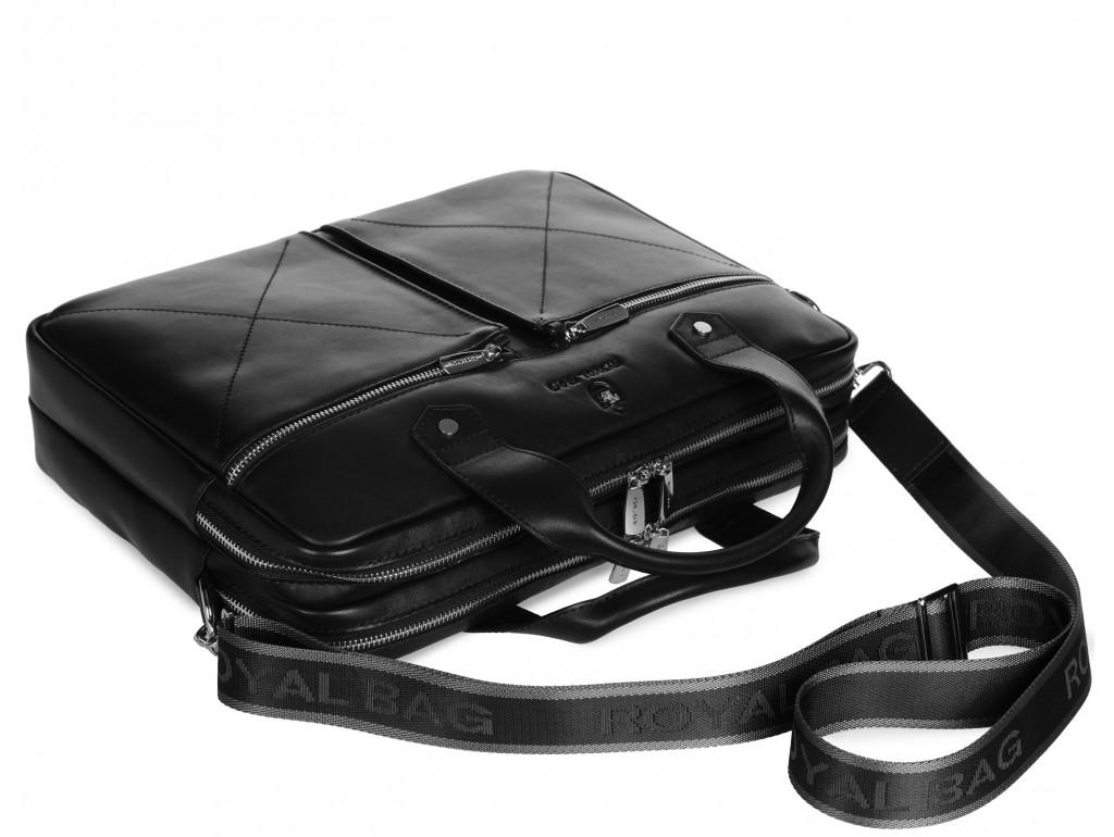 Мужская деловая кожаная сумка для ноутбука Royal Bag Rb012A - Royalbag