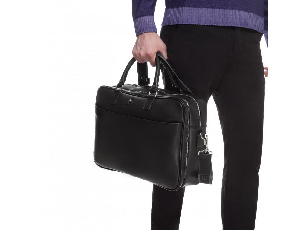 Вместительная деловая сумка-портфель из натуральной гладкой кожи Royal Bag RB026A - Royalbag