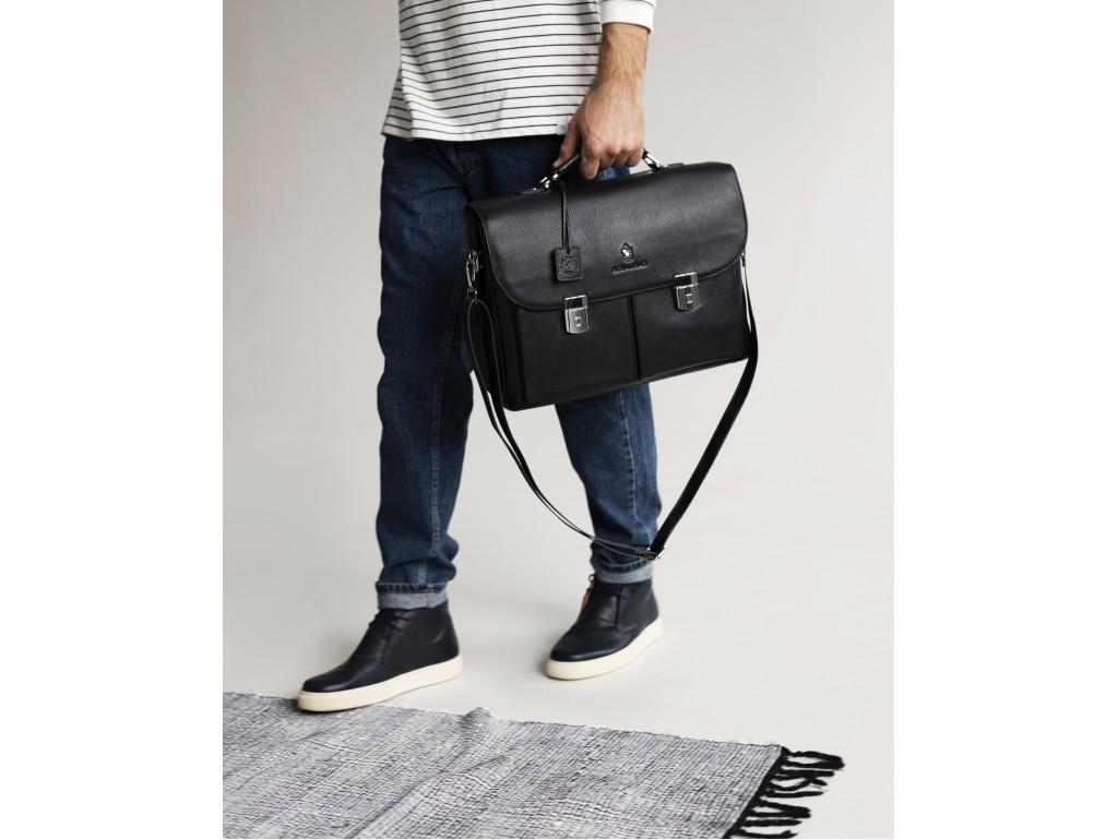Портфель мужской кожаный классический с замком Royal Bag RB40041 - Royalbag