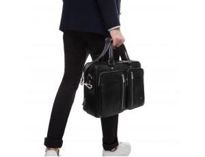 Вместительная функциональная мужская кожаная сумка Royal Bag RB50021