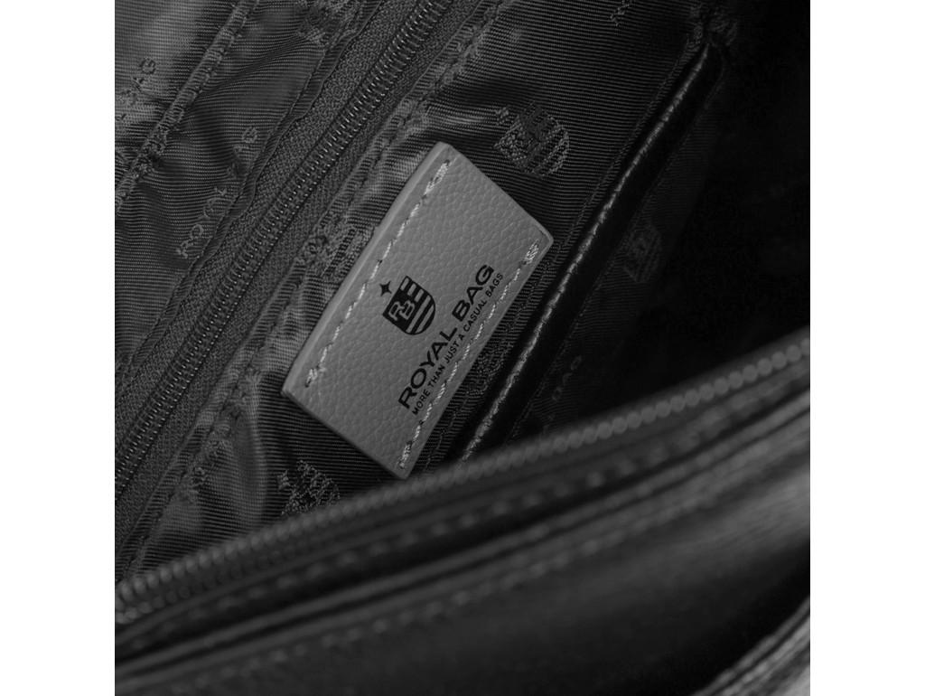 Кожаная мужская сумка через плечо с клапаном Royal Bag RB70011 - Royalbag